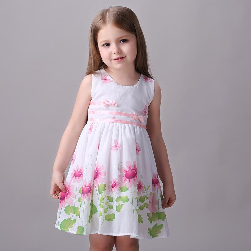 100-140cm Girl Dress Kids Clothes Summer Dresses Formal Baby To Child Kinderkleding Meisjes Roupa Infantil Menina Vestidos Mujer(China (Mainland))