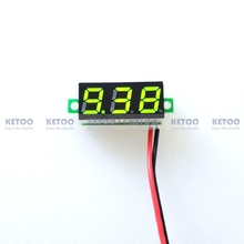 1PCS Free Shipping New 0.28″ DC 3.5-30V Super Mini Digital Green LED Car Voltmeter Voltage Volt Panel Meter battery monitor