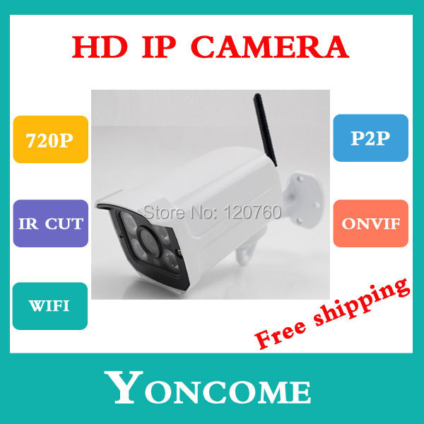 wifi IP Camera 720P 1.0MP ONVIF 2.0 Waterproof Outdoor IR CUT Night Vision P2P Plug Play - Shenzhen Yoncome Security Video Co.,Ltd store