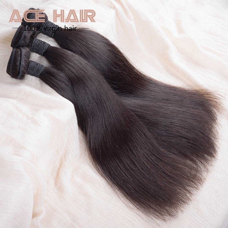 queen hair products 4aunprocessed virgin brazilian hair brazilian straight hair 3pcs lot free shipping human hair extensions
