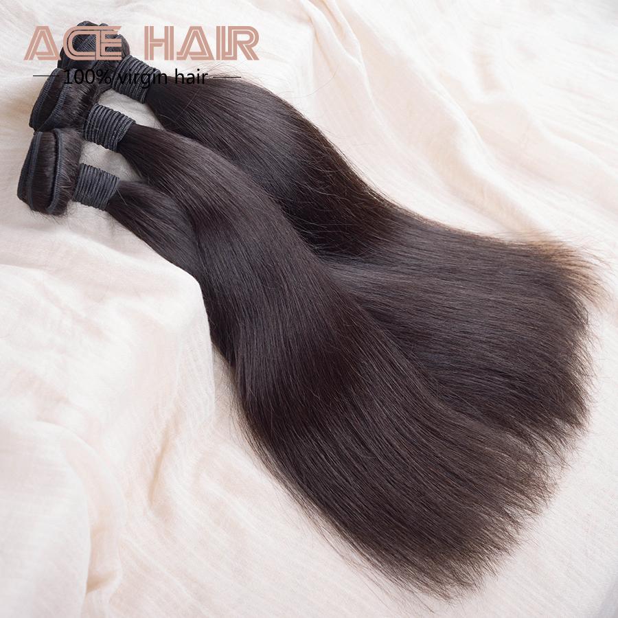 queen hair products 4aunprocessed virgin brazilian hair brazilian straight hair 3pcs lot free shipping human hair extensions