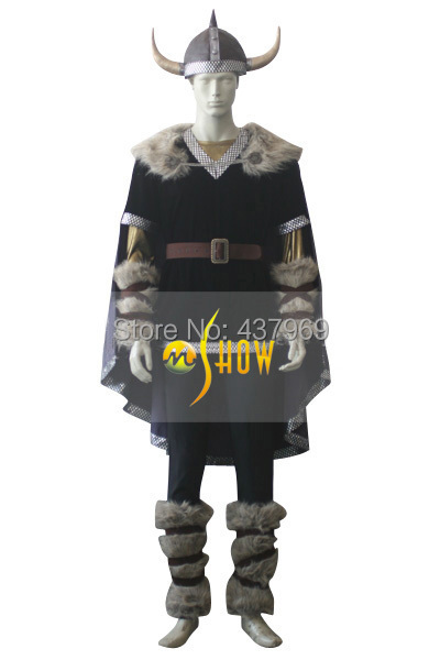 Hot Movie Customized Viking Warrior Cosplay Costume Men Party Costumes Christmas Role-playing Dress Suits Free Shipping(China (Mainland))