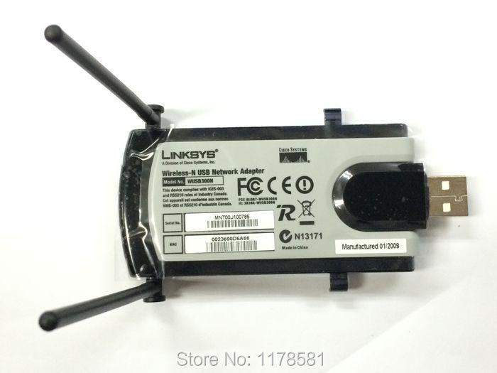 New Wireless wifi USB WIFI Adapter Linksys WUSB300N IEEE 802.11n LAN Dongle Network Card Wifi N USB 2.0 Wlan Adapter(China (Mainland))