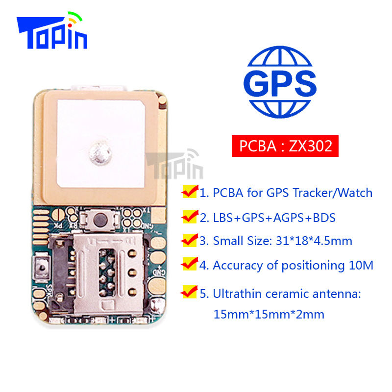 ZX302 Ultra Mini GSM GPS Tracker Locator Real Time Tracking Position Geo-Fence for Children Pets Car Vehicle DIY Modify PCBA Hot(China (Mainland))