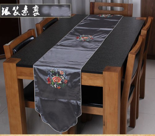wholesale-BRAND-NEW-TOP-Noble-CHINESE-Handmade-EMBROIDERED-SILK-TABLE-RUNNER-BED-FLAG