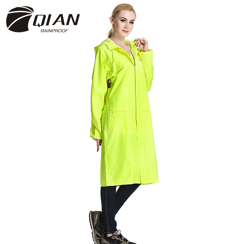 QIAN RAINPROOF Impermeable Long Style Raincoat Adults Waterproof Trench Coat Poncho Rain Coat Female Rainwear Rain Gear Poncho(China (Mainland))