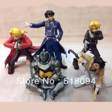 Free Shipping Anime Fullmetal Alchemist PVC Action Figure Toys 5pcs/set OTFG028
