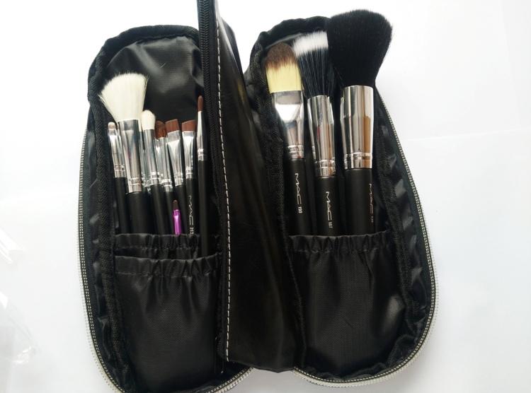 new Fashion Hot Sale Beauty Cosmetic Brushes Makeup Brush Set 12Pcs/Set Good Quality Hair Round Box Replace Mac(China (Mainland))