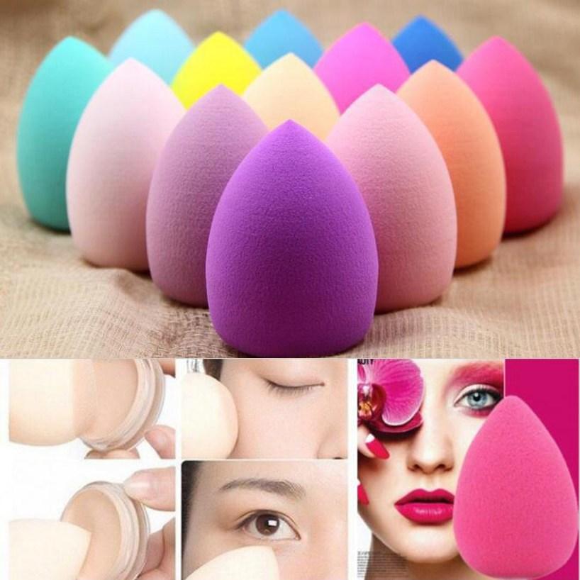 3Pcs 40x60 mm Big Waterdrop Shape Powder Puff ,Beauty Make Up Tool Sponge Cosmetic Puffs Makeup Tools Accessories Fluffy Cheap(China (Mainland))