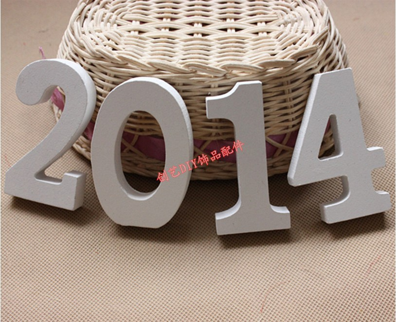 Free shipping 2014 home decoration numbers 0 9 for Decoration 9 letters