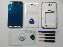 White/Black/Red/Blue Replacement Full Housing Case Cover+Screen Glass Lens + Buttons For Samsung Galaxy Note 1 N7000 With Logo(China (Mainland))