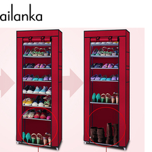 10 Layers Simple Non-woven Fabric Shoe Rack With Door Lockers Shoe Storage Cabinet For Living Room And Porch  H216(China (Mainland))