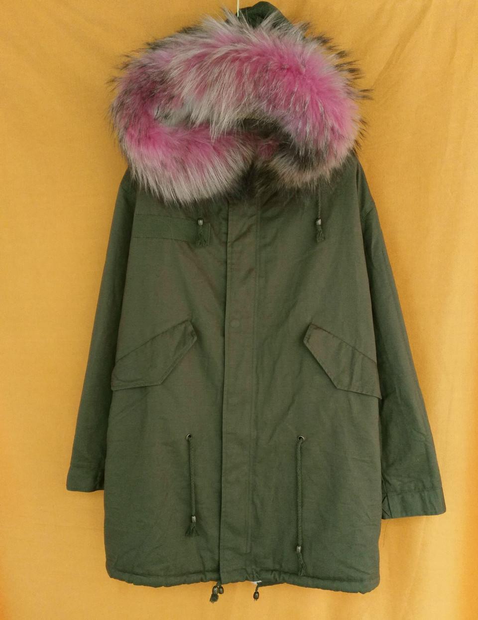evanding армии зеленый parka реальный меховой воротник зимние пальто дамы с длинным рукавом из искусственного меха выстроились с капюшоном плюс размер верхней одежды ветровки s-2xl