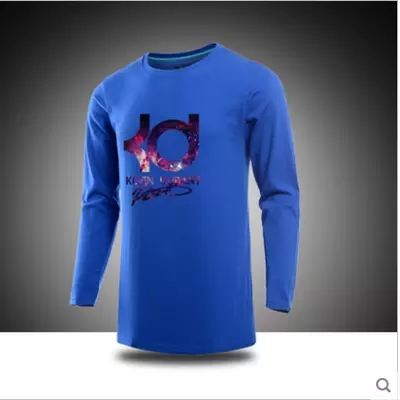 New arrival brand super star KD Kevin Durant t shirt cotton sport basketball t-shirt man long sleeve Tops Tees Plus Size(China (Mainland))