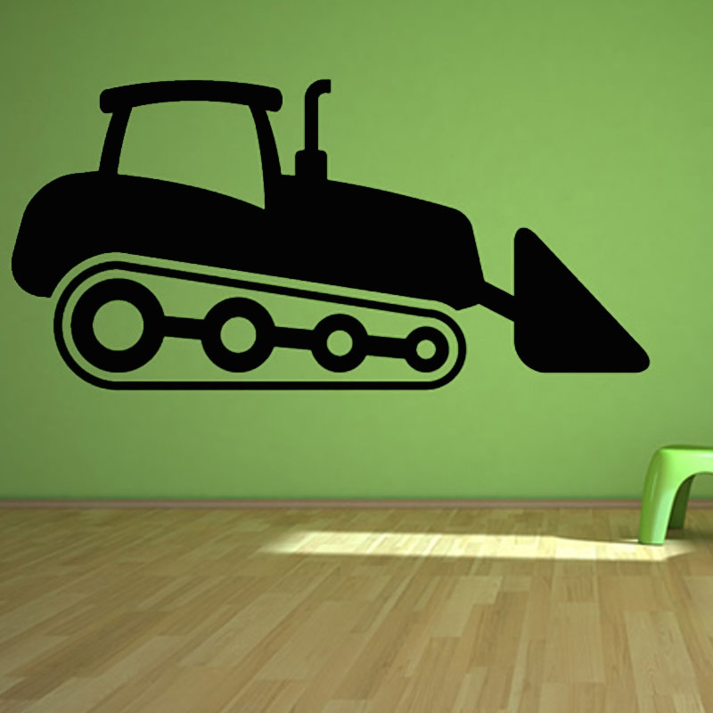 Kids Bedroom Nursery Wallpaper Hollow Out Digger Cartoon Wall Stickers PVC Removable Home Decor