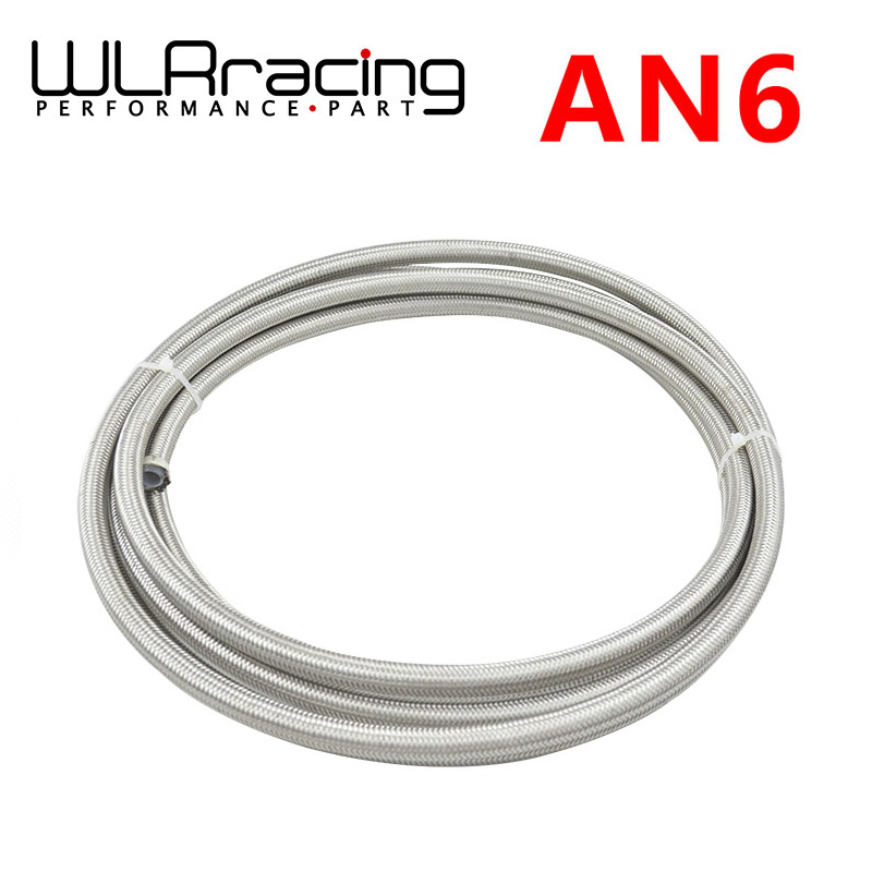 """WLR STORE-6 AN -6 (8 mm 5/16"""") PTFE Stainless Braided Teflon Hose(China (Mainland))"""