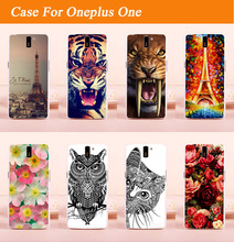 Buy New Arrival Fashion diy colored animals beautiful flowers eiffel towers design hard Case Oneplus One (One Plus One) Cover for $1.26 in AliExpress store
