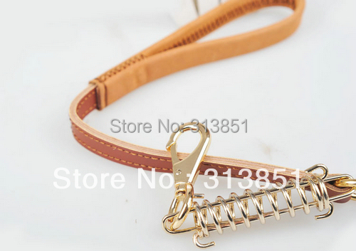 1076# Wholesale Pet Products Dog Leads Pet Leash Dermis Genuine Leather For Big Dog Strong Good Quality Free Shipping 10PCS/LOT(China (Mainland))