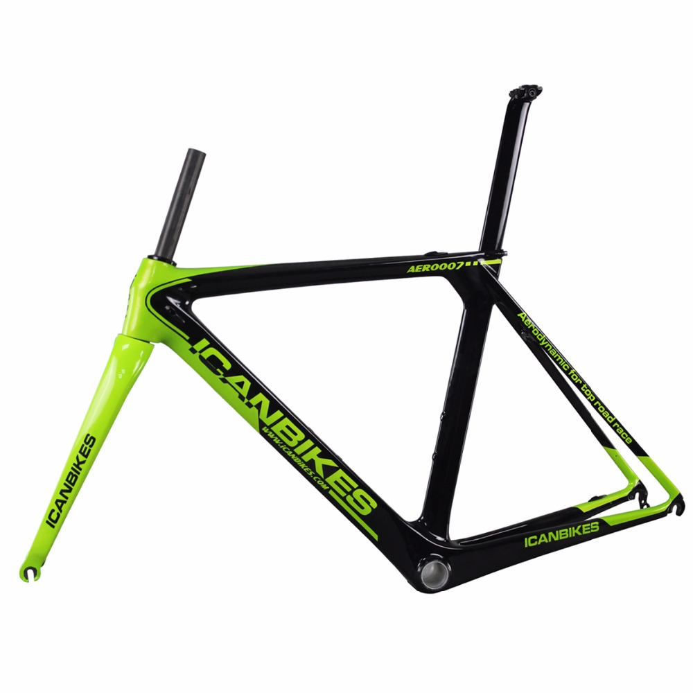 ICAN carbon road frame customized paint 2016 carbon bike frame di2 and BB86 inner cable 50 52 54 56 58cm carbon frame AERO007(China (Mainland))