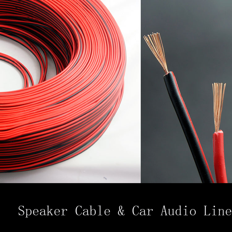 2*1.6 Square MM speaker wire Red and black copper speaker wire audio cable 20 meters available speaker cables free shipping
