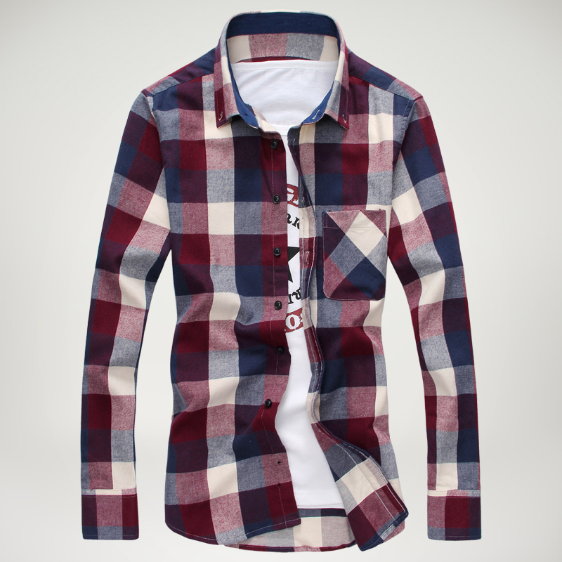 Checked mens shirts is shirt for Men slim fit shirts
