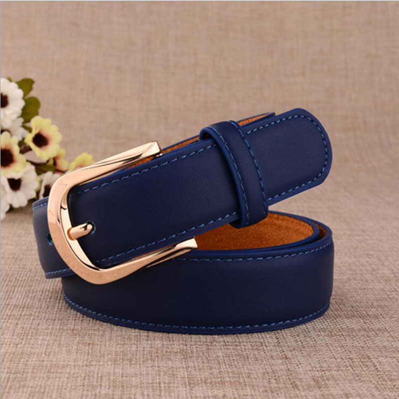 Wxh new 2016 belts ladies fashion leather belt for women hot style joker candy color womens belts(China (Mainland))