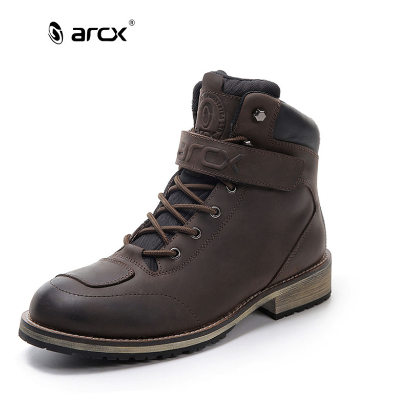 ARCX Men's Leather Motorcycle Boots Waterproof motorcycle Outdoor Travel Boots Moto Vintage Ankle Boots(China (Mainland))