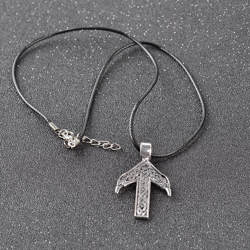 Norse Vikings Nordic Pendant Necklace TIWAZ / TYR Rune Viking Amulet Pendant Necklace Nordic Talisman Free shipping