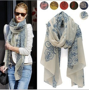winter scarf  large scarf woman's scarf viocose bohemian scarves pashminas celebrity style Totem W014