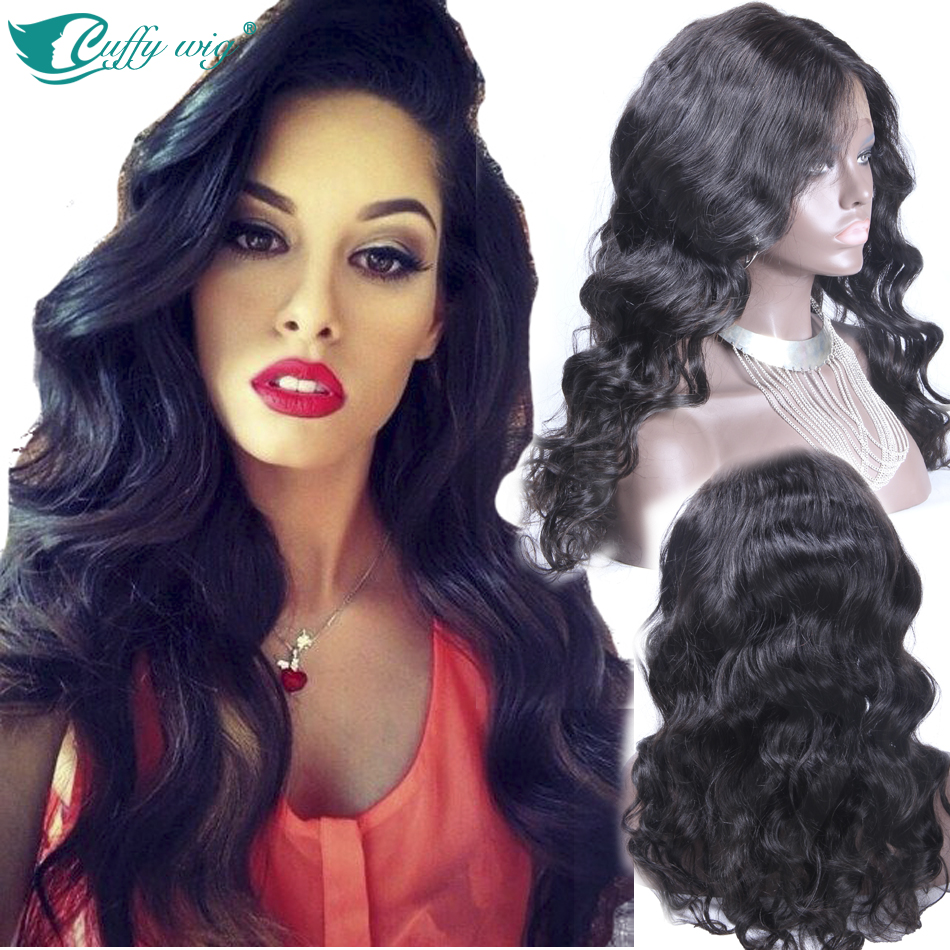 Glueless Full Lace Wigs Peruvian Virgin Hair Straight Virgin Lace Front wig 8''-24'' Full Lace Human Hair Wigs For Black Women
