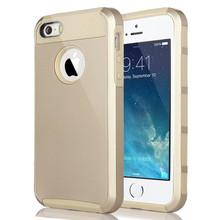 Для iPhone 5 5S чехол покрытие силиконовой резины гибридный прочная пк тонкий внешний жесткий защитить телефон чехол + жк-протектор + стилус