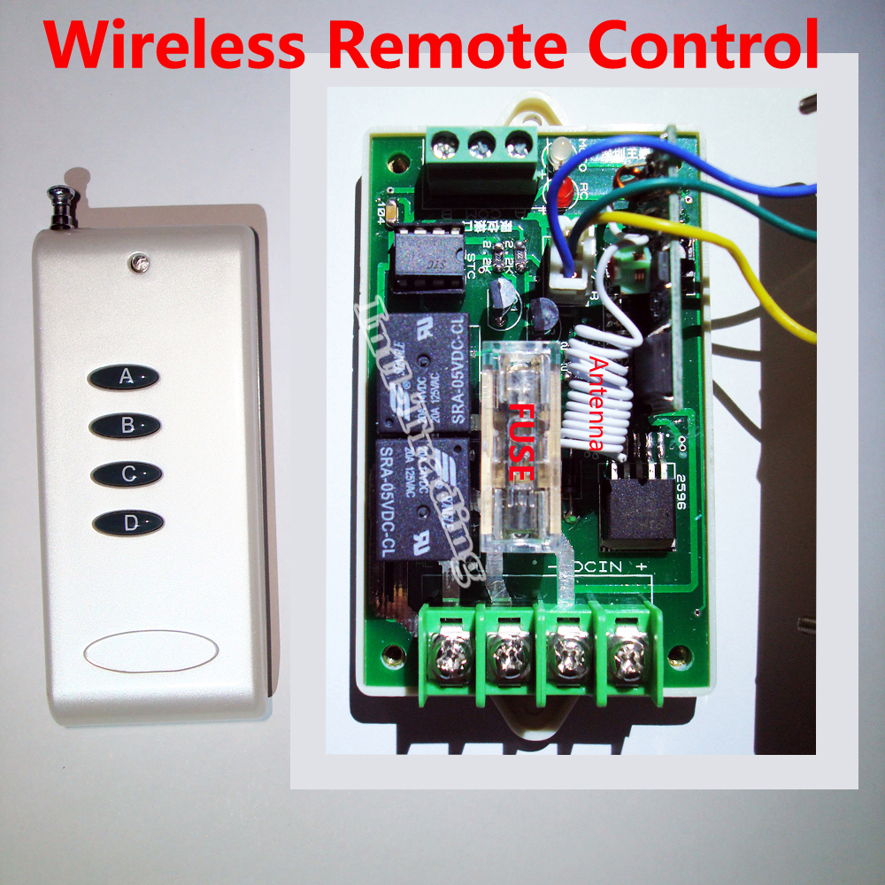 Dc Motor Controller With Wireless Remote Control 12v 24v