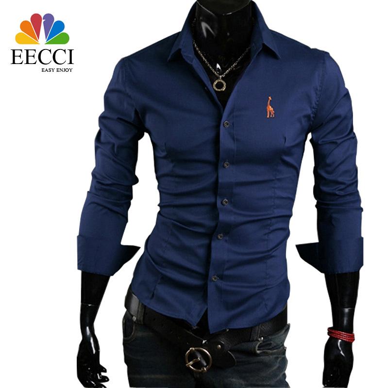 Men shirt long sleeve camisa social masculina brand new casual slim fit mens dress shirts camisas chemise camisas hombre chemise(China (Mainland))
