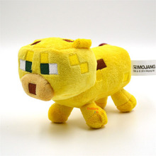 24cm Minecraft Plush Toys Yellow Minecraft Ocelot Stuffed Cat Animal Plush Toys Genuine JJ Dolls Game Cartoon Kids Toys Gifts(China (Mainland))