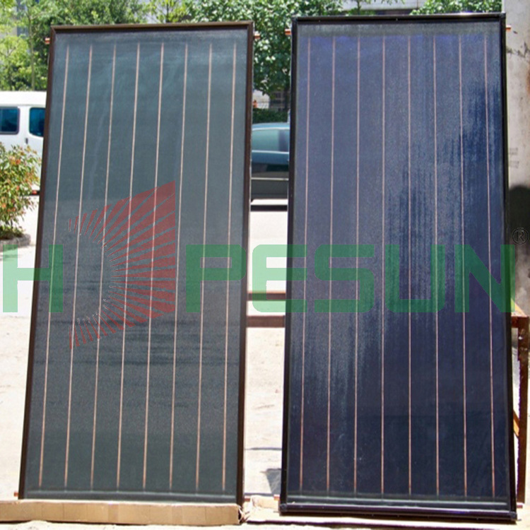 Factory direct blue titanium flat plate solar collectors Wall-mounted domestic aluminum blue film flat-plate collector(China (Mainland))