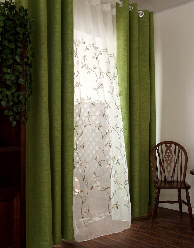 window curtain leaf transparent sheer burnout tulle voile