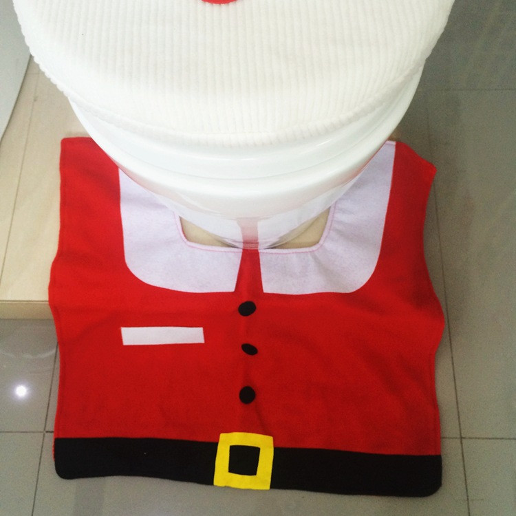Santa Toilet Seat Cover Rug Bathroom Set Christmas Decoration Shop 6