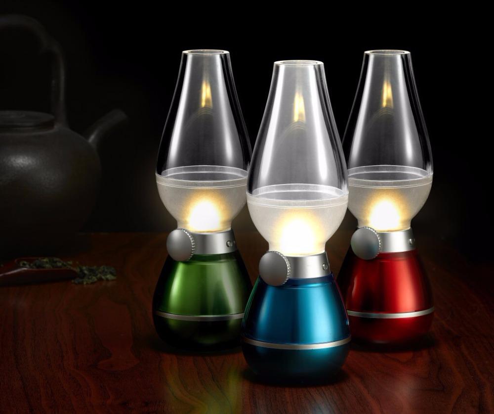 usb rechargeable led nostalgic blow control light vintage. Black Bedroom Furniture Sets. Home Design Ideas