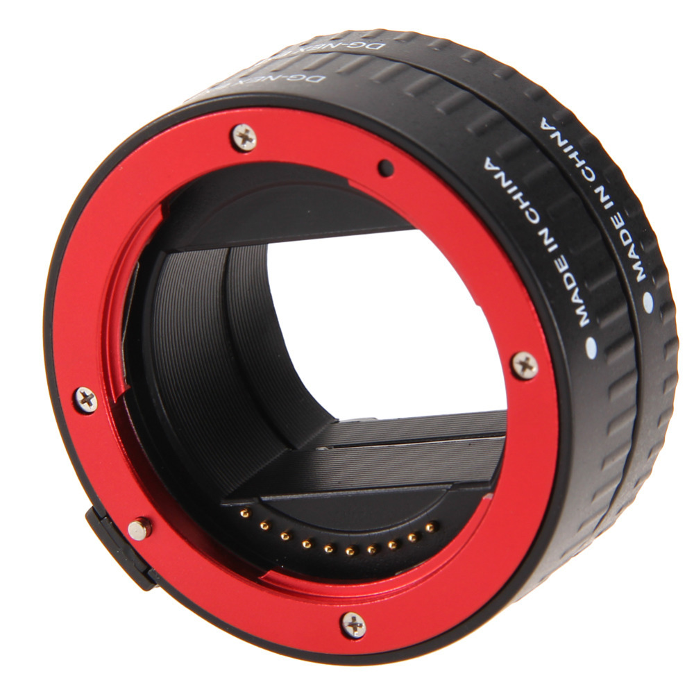 High Quality RED Auto Focus Macro Extension Tube Adapter 10MM 16MM for Sony E-Mount NEX<br><br>Aliexpress