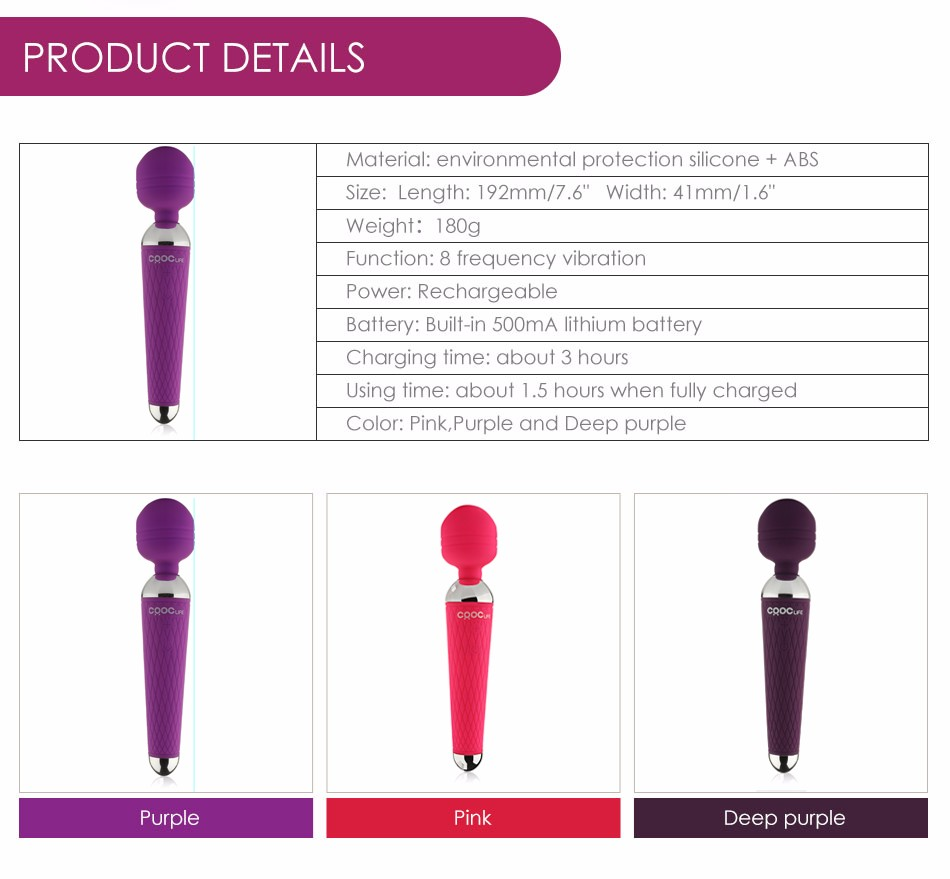 CRDC Hot Adult Sex Toys for Woman 15 Speed Power Oral Clit Vibrators for Women USB Rechargeable AV Magic Wand Vibrator Massager
