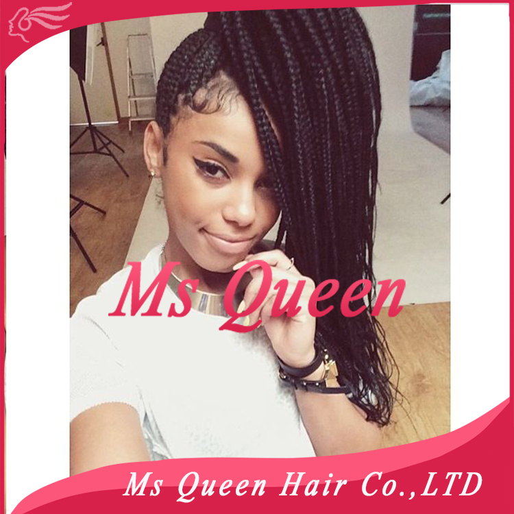 Black Braided Lace Front Wigs