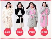 New Animal plush robe Panda sheep mouse rabbit Pajamas Sleepsuit Sleepwear Unisex pijamas bathrobe robes for women(China (Mainland))