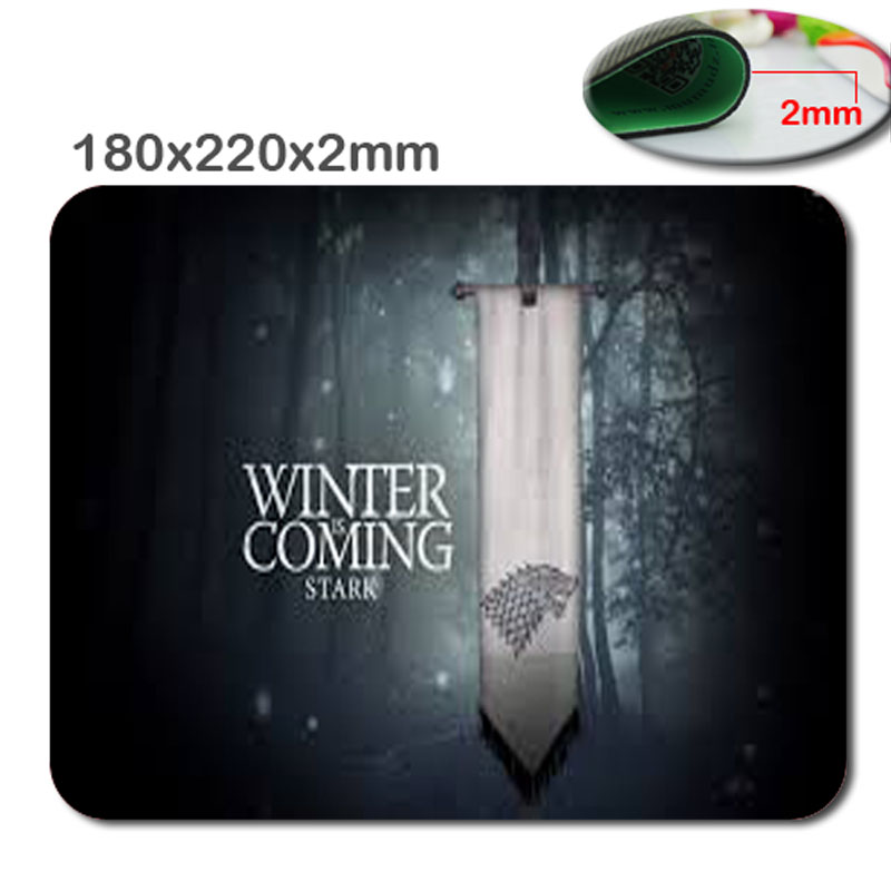 To Make People Like The Winter To The Game Of Thrones Silicon Mat Mouse Pad Pad(China (Mainland))
