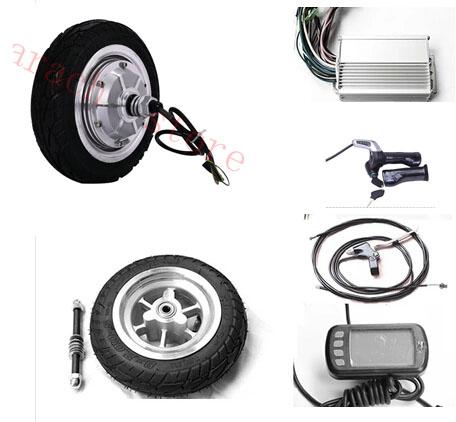 8 350w 24v disc brake electric wheel hub motor electric for Scooter hub motor kit