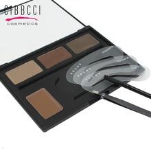 CIBBCCI Eyebrow Shaping Powder Palette Stencils Brow Class Eyebrow Wax Makeup Kit eyebrow tweezers with eye brow tools(China (Mainland))