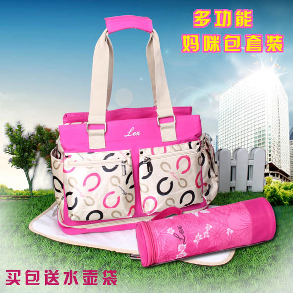 NEW Bottle Storage Mummy Bag Diagonal Maternity Baby Handbag High Quality Tote Baby Shoulder Luxury Bottle Storage Mummy Bag(China (Mainland))