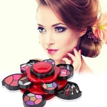 2016 New Basic Adult Flower Style Makeup Set Eyeshadow Foundation Blusher Powder Lipstick Kit Make Up Kits Gift Set ST1#(China (Mainland))