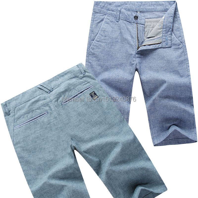 2015 summer stretch linen man five minutes shorts - The freezing point of casual clothing store
