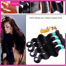 7a grade brazilian hair body wave black brazilian hair weave bundles unprocessed brazilian hair 3 bundles per lot free shipping(China (Mainland))