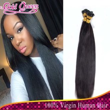 New Arrival Brazilian human hair i tip hair extensions 100strands silky straight fusion hair extensions 8-32inch in stock(China (Mainland))